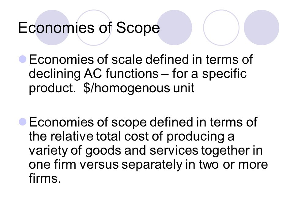 economies of scale and scope definition