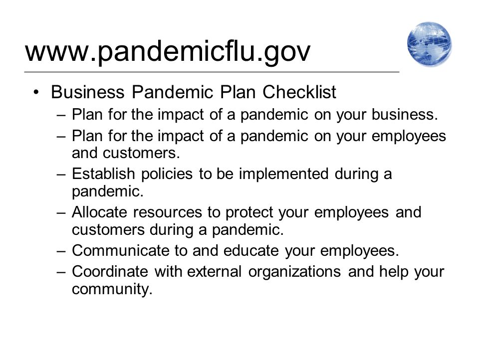 Best practices in business planning for pandemic for Pandemic preparedness plan template