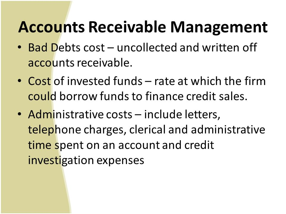 accounts receivable management Built on innovative debt recovery solutions, talented people, unwavering ethics, and state-of-the-art recovery technology, conserve is a top performing accounts receivable management company with the numbers to prove it.