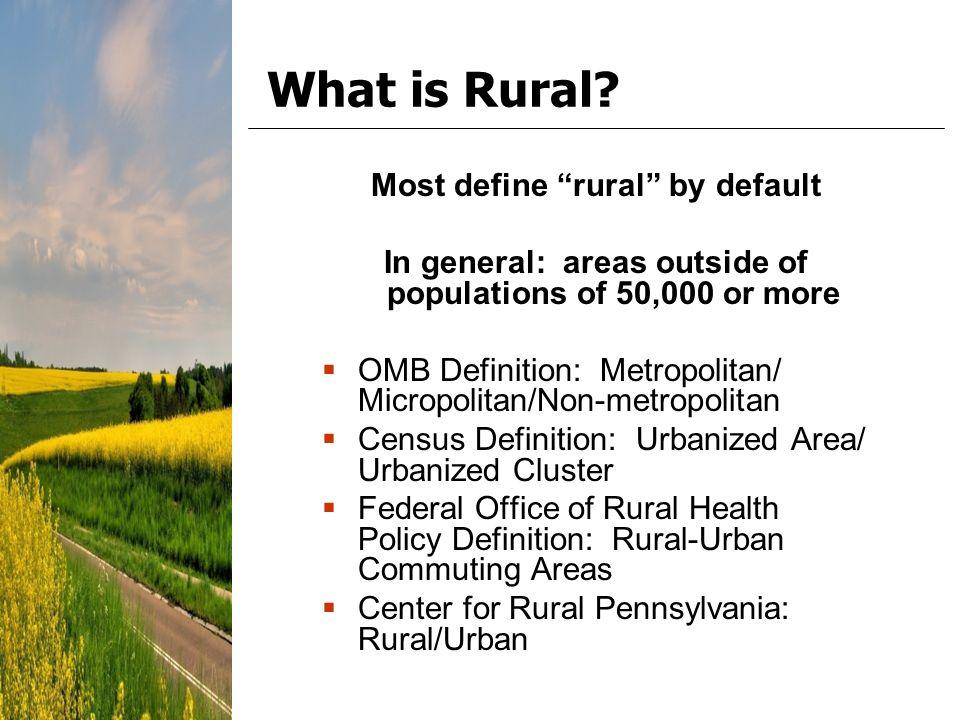 Urban Area Definition