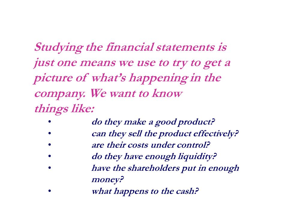 "getting to know the financial statements ""now you are the body of christ, and each one of you is a part of it"" 1 corinthians 12:27."