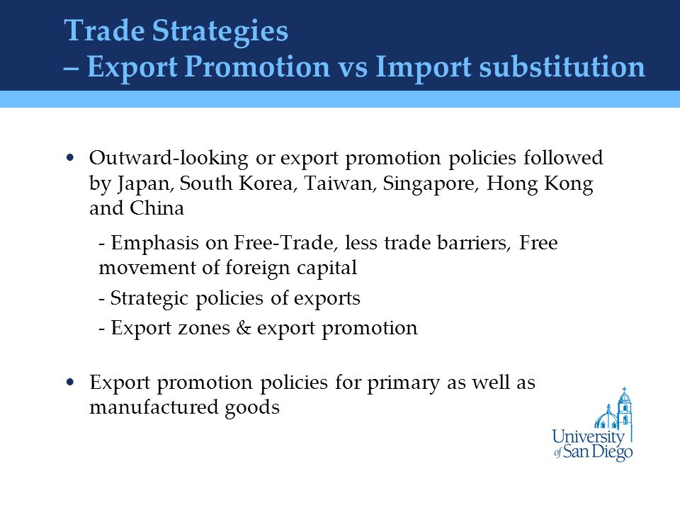 "import vs export substitution Brazil and south africa the article suggests that an import-substitution  industrialisation policy is not only appropriate  two countries adopted an export- promotion strategy to leverage the competi-  ""integration versus trend  stationery in."