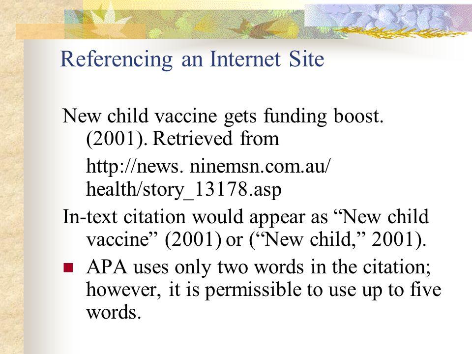 referencing an online pdf apa