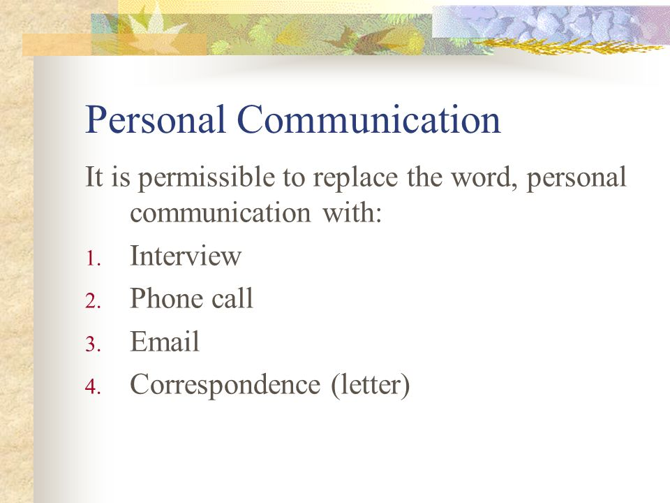 Personal Communication University of Canterbury