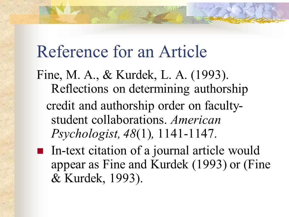 cite journal article research paper In-text citation (paraphrase) how to paraphrase in apa format if you cite the article in an academic journal, you have a different set of information to.