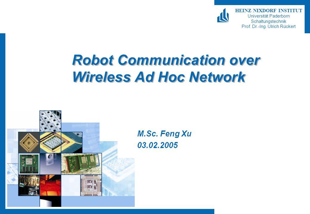 Robot Communication over Wireless Ad Hoc Network