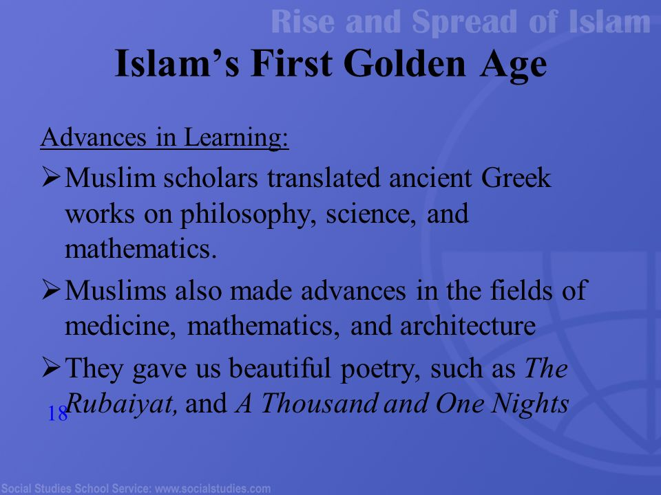 science and mathematics in medieval islamic Islamic science had its heyday in the ninth century from the medieval fortifications of the city from theology to mathematics.