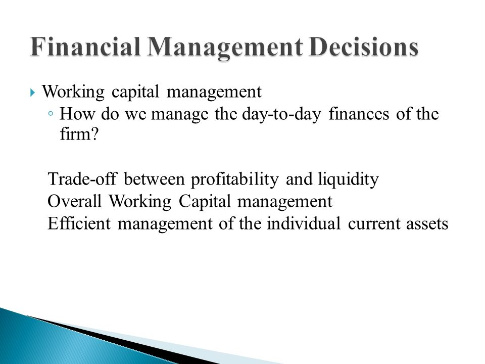 the impact of financial management decisions Active management of one's portfolio of capital  may contribute to the financial and impact  risk, return and impact:.