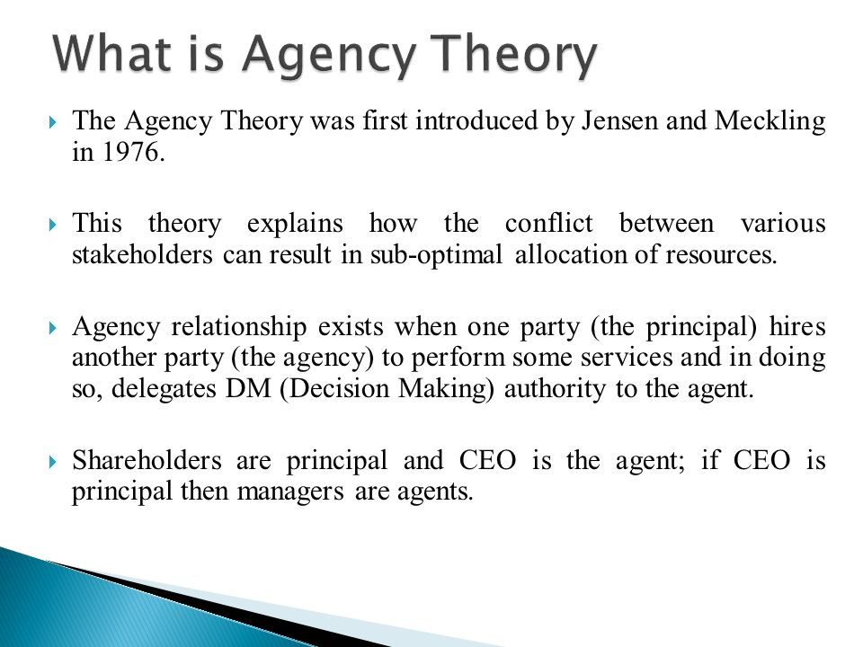 explain the concept of agency law and relationship