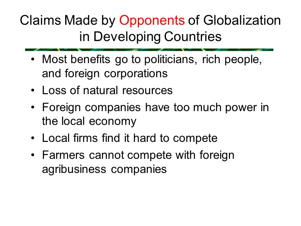 What Are Some Negative Effects of Globalization on Developing Countries?