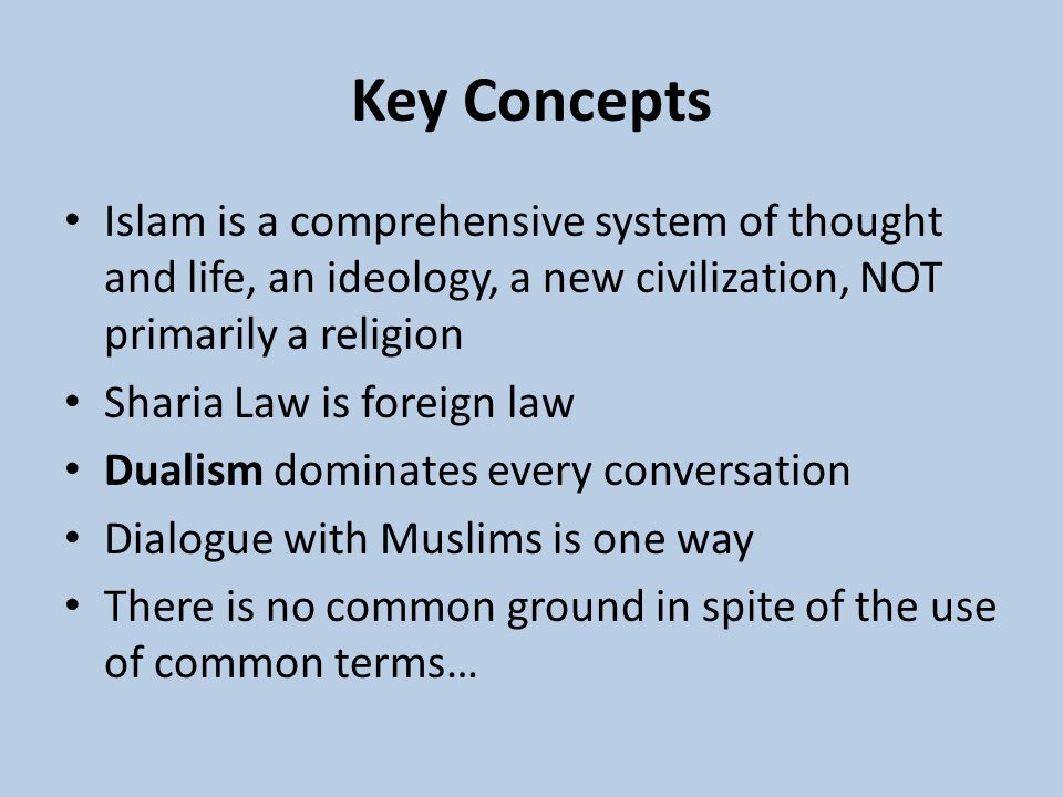 An analysis of the concept of islam as a way of life