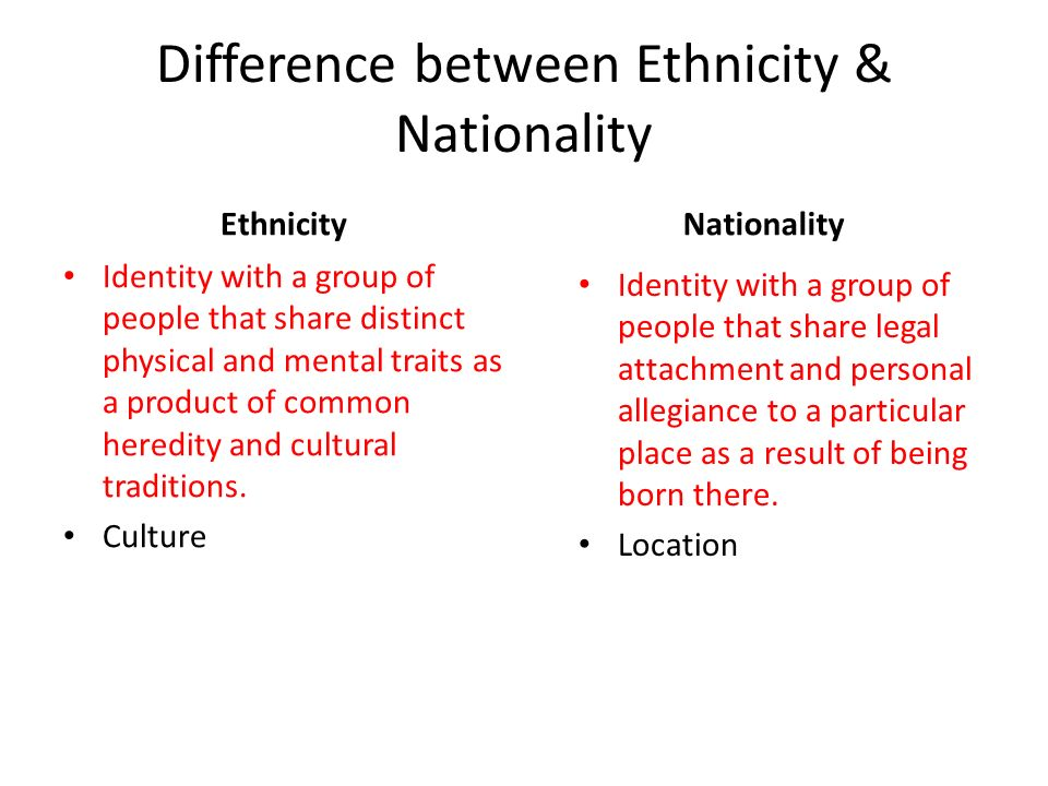 difference between race ethnicity essay In decision race and ethnicity are clearly different yet are confused among most people of the universe race is determined by skin colour and physical properties passed down from ascendants.