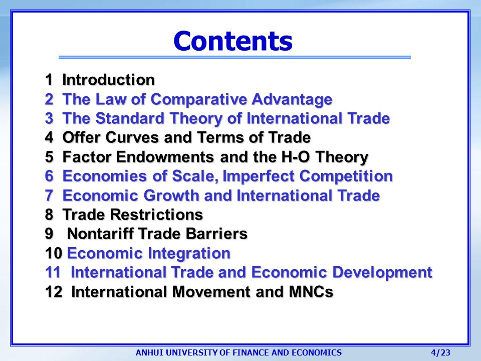 relationship between imperfect competition and international trade