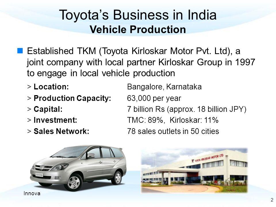 Bangalore chennai corridor development ppt video online for Toyota motor corporation address