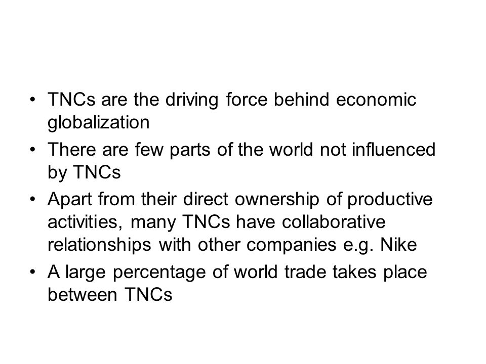 advantages and disadvantages of tncs Tncs positives and negatives for host and origin country tncs may be in direct competition with local tncs positives and negatives for host and origin c.