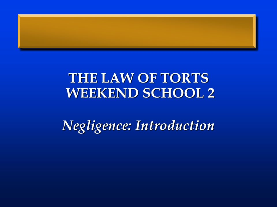 torts of law 1 1 Gonzaga university school of law torts torts 1 daggett torts dustin k size: 39 prima facie case act, intent, and causation act must be voluntary, meaning that the defendant must have the state of mind that directed the.