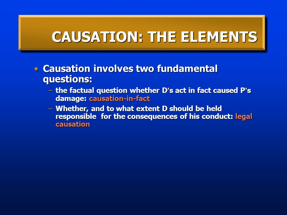 fundamental causation Causality is what connects one process (the cause) with another process or state  (the effect),  causality is one of the most fundamental and essential notions of  physics causal efficacy cannot propagate faster than light otherwise, reference .