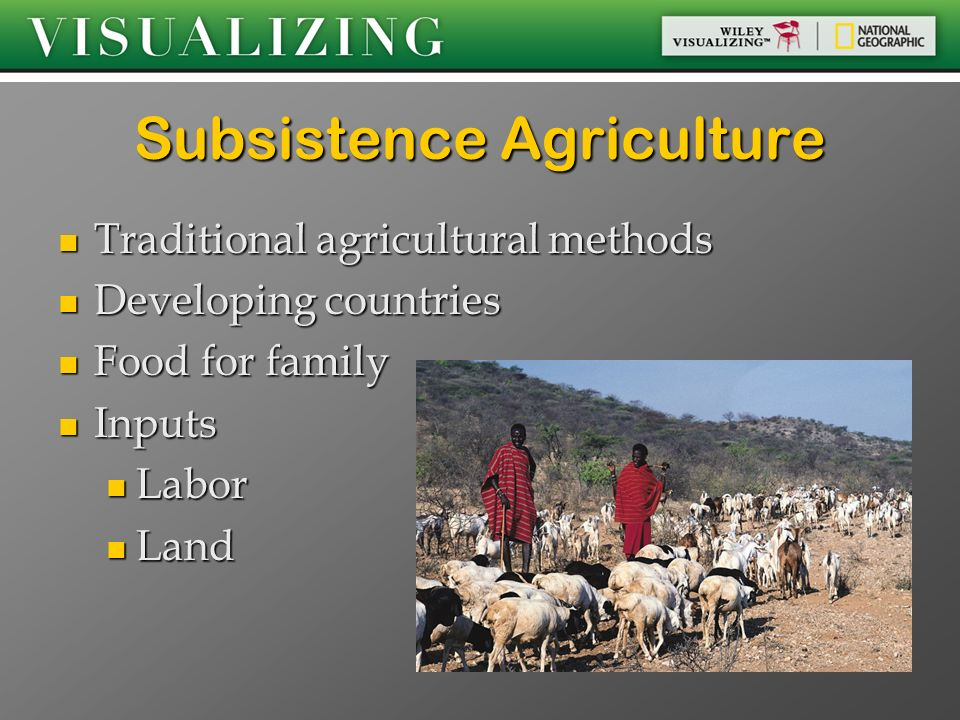 the description of the subsistence method of growing crops horticulture Intake was calculated and gives a brief description of sampling and that choose to grow export horticulture may undergo a subsistence crops and.