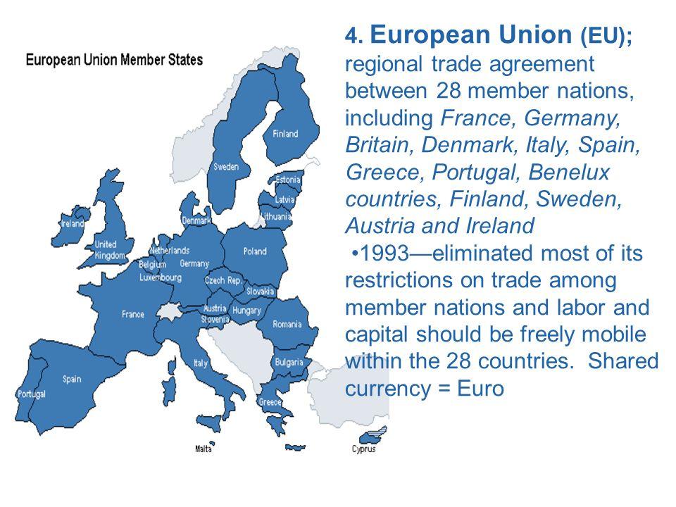 Chapter 17 international trade ppt download european union eu regional trade agreement between 28 member nations platinumwayz