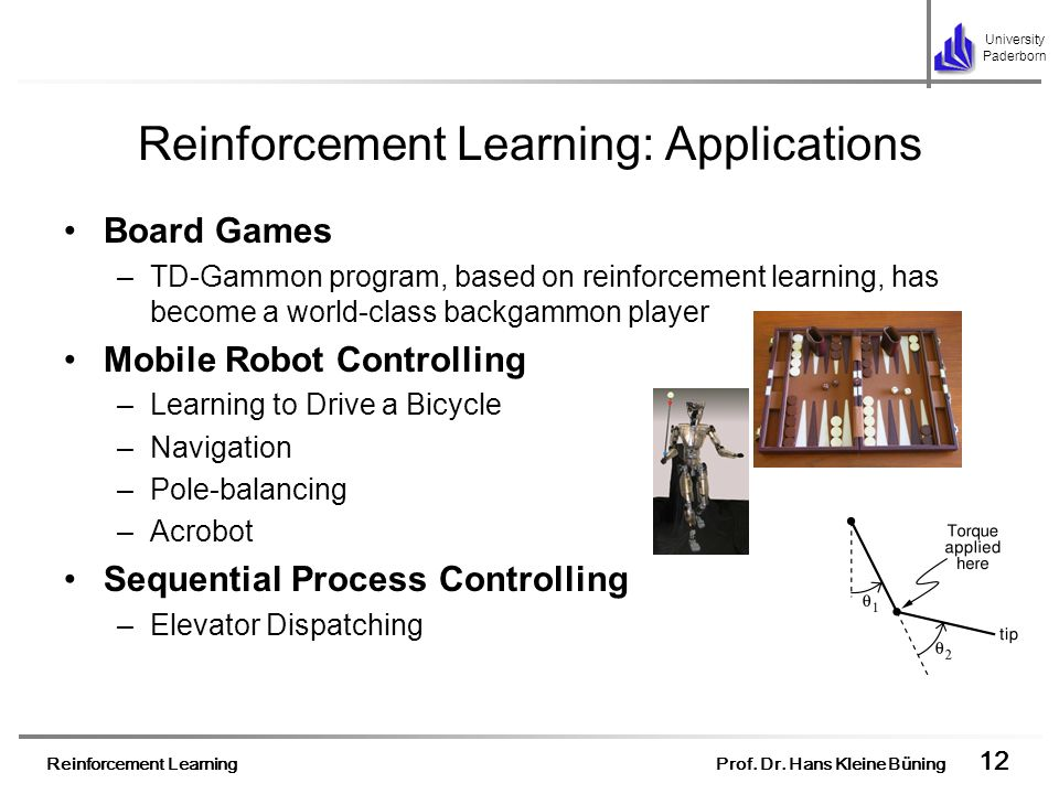 Reinforcement Learning: Applications