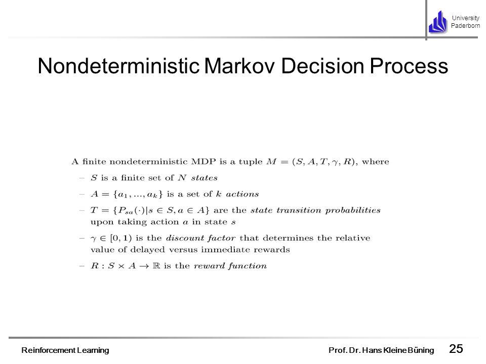 Nondeterministic Markov Decision Process