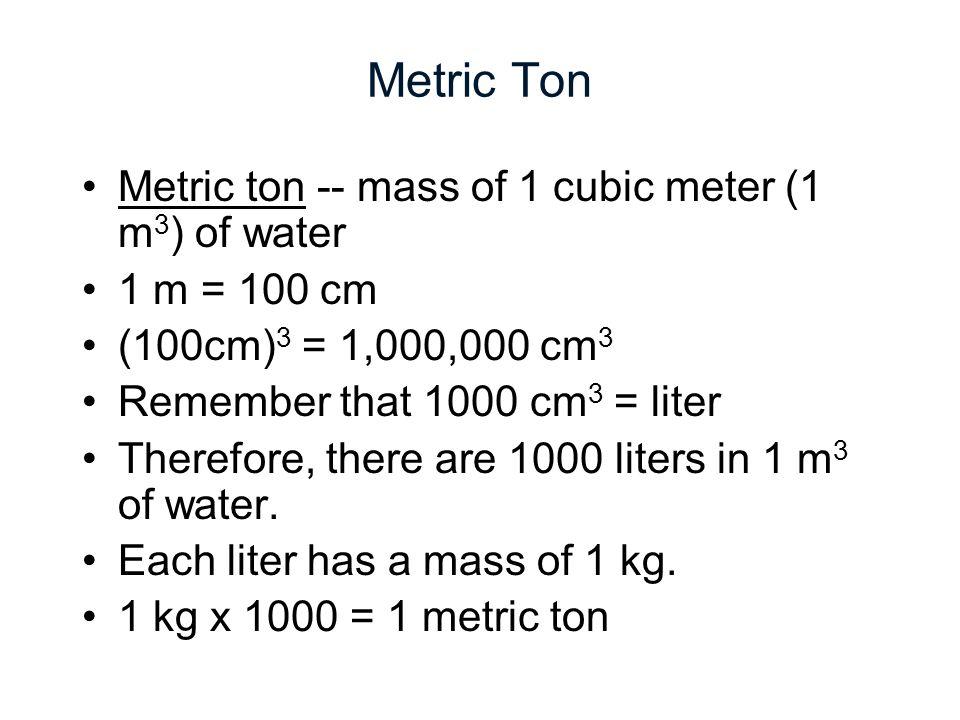 metric ton vs ton
