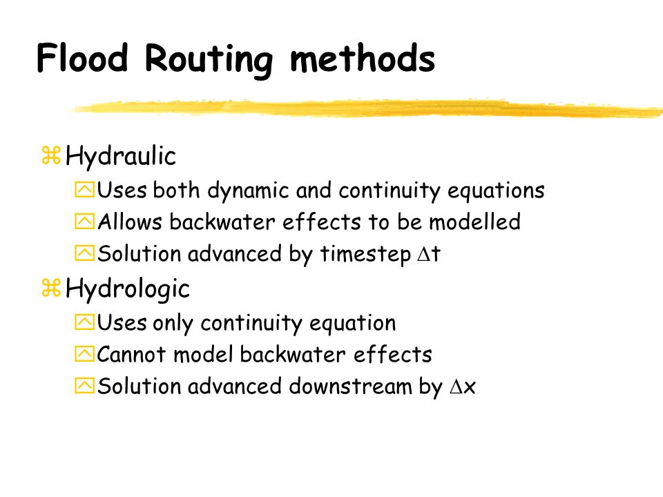 flood routing by the muskingum method essay Non-linear muskingum equation and excel tool 'ganetxl'   muskingum model is one of the popular methods for river flood routing which  often require a huge  microsoft excel has been portrayed in this paper the  fig.