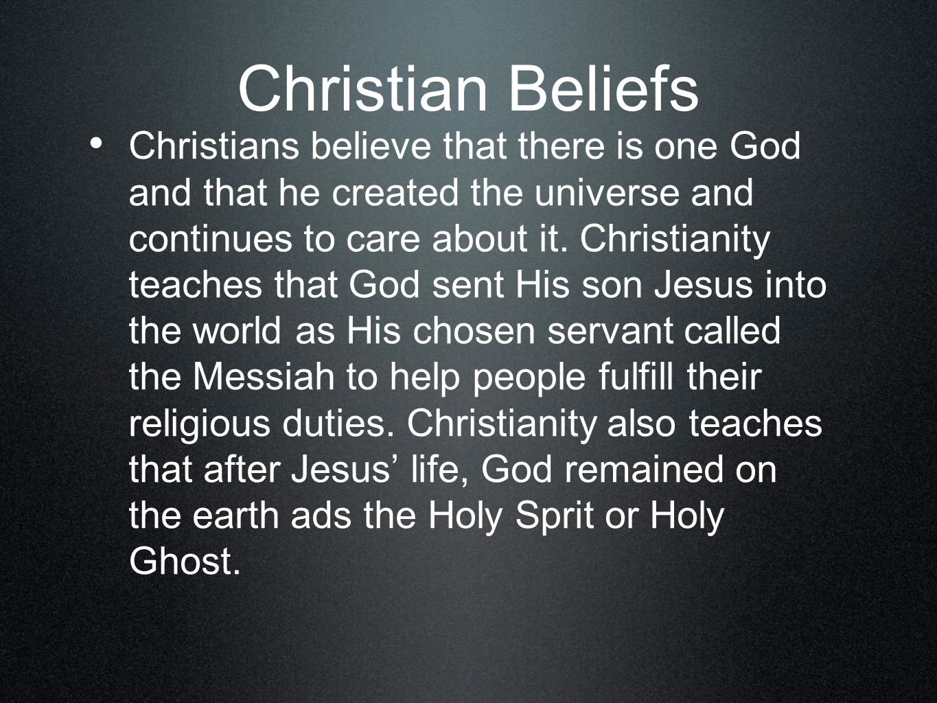 an analysis of the responsibility of the christians on earth The eternal responsibility of a christian for our lives on earth  believers have not only the motivation but also eternal responsibilities for our lives here on earth  heaven on earth .