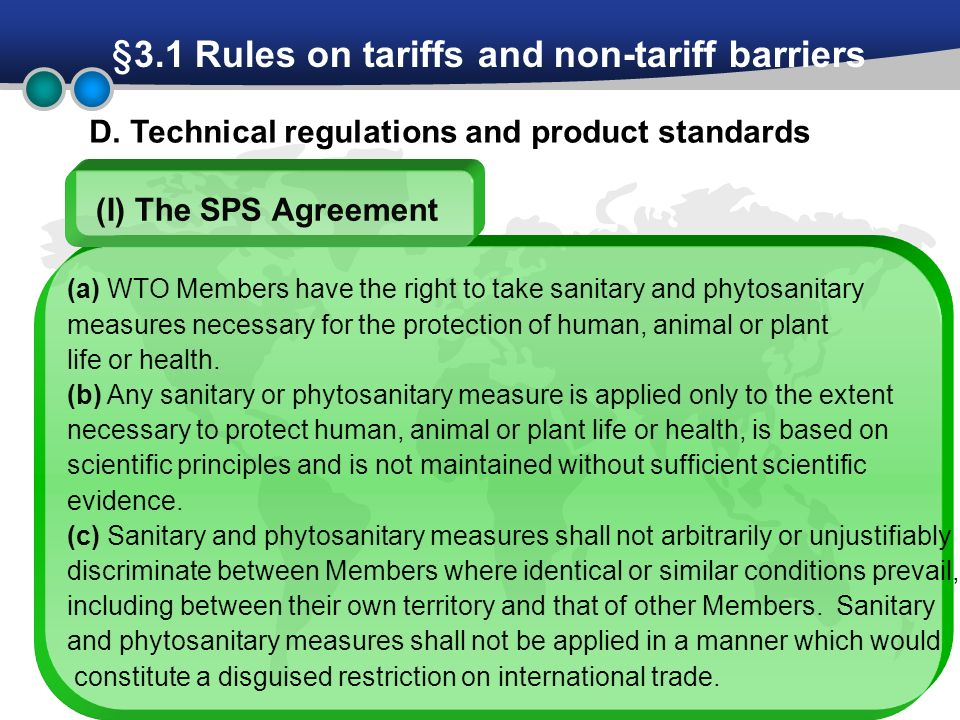 methods to evaluate non tariff measures on trade Non-tariff barriers (ntbs) there are alternative ways to measure ntbs such as price-based, quantity-based and combinations of these two methods focus on foot and mouth disease risk to study the trade effects of an optimal tariff.