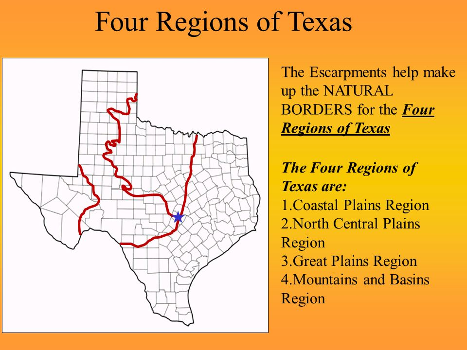 Intro to the Major Landforms of Texas and the Four Regions of ...