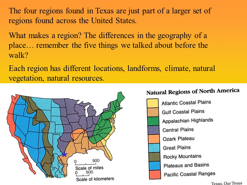 Intro To The Major Landforms Of Texas And The Four Regions Of - Landforms of the united states
