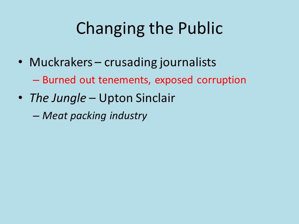 upton sinclair and the problems with meat packing industry Upton sinclair's muckracking novel holds lessons for workers, and others, today   in this photo, meatpackers are seen at the stockyards circa 1904  and friends  emigrating from the countryside of lithuania to industrial chicago  illegal and  unsanitary conditions in the packing plants are detailed, and.