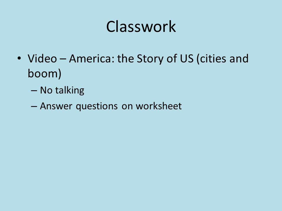 Classwork Video America The Story Of Us Cities And Boom