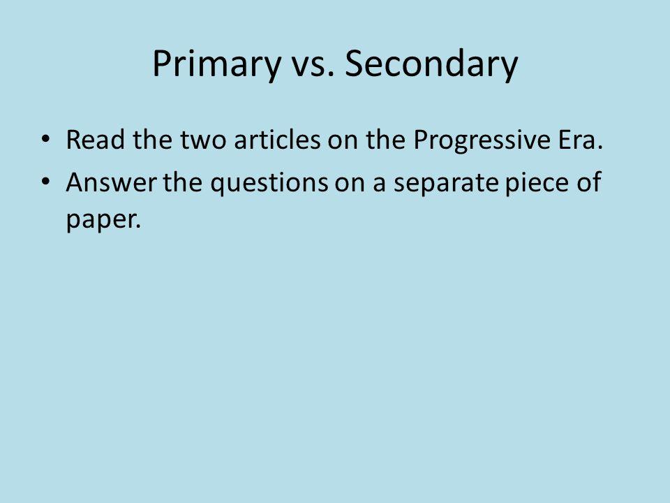 progressive era essay questions Characteristics of the progressive era include purification of the government,  modernization, a focus on family and education, prohibition, and women's  suffrage.