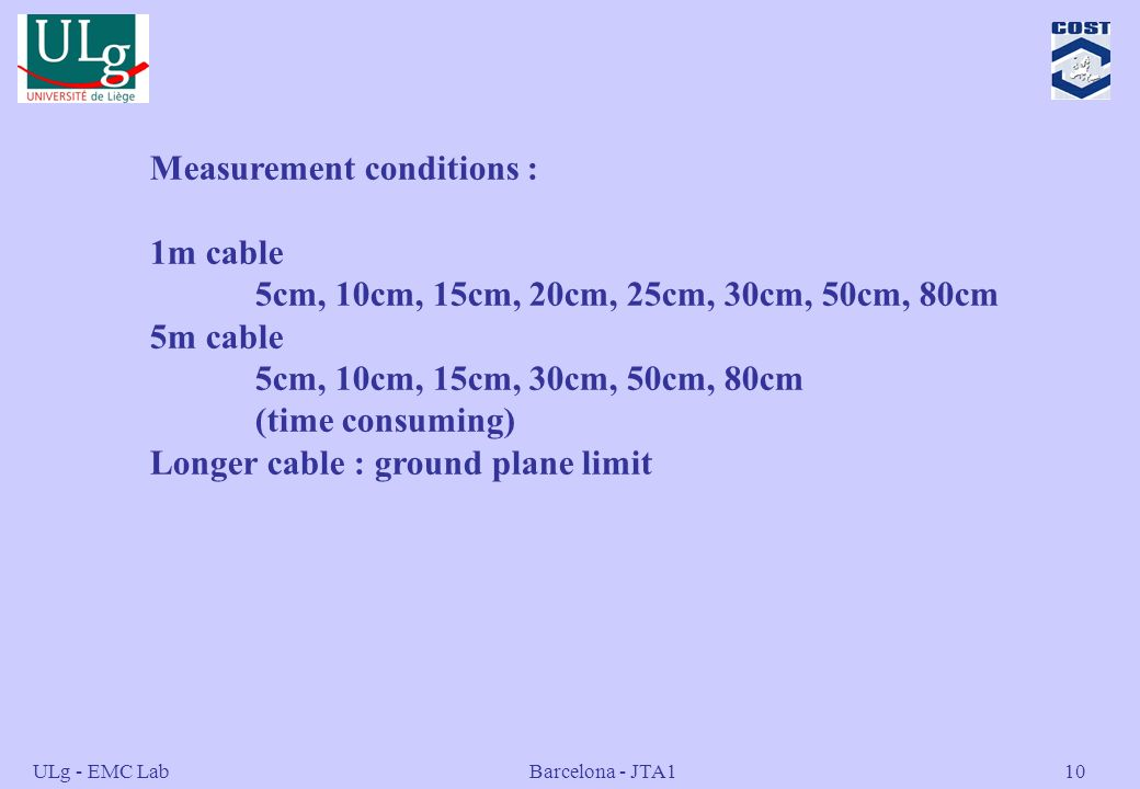 Measurement conditions : 1m cable