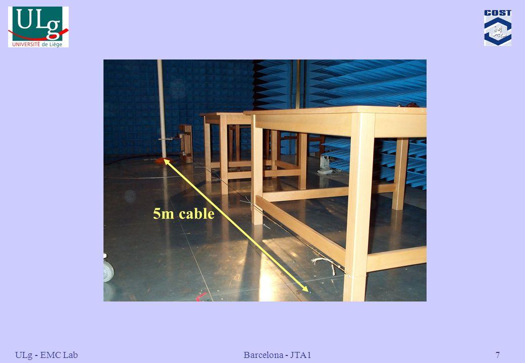 5m cable ULg - EMC Lab Barcelona - JTA1