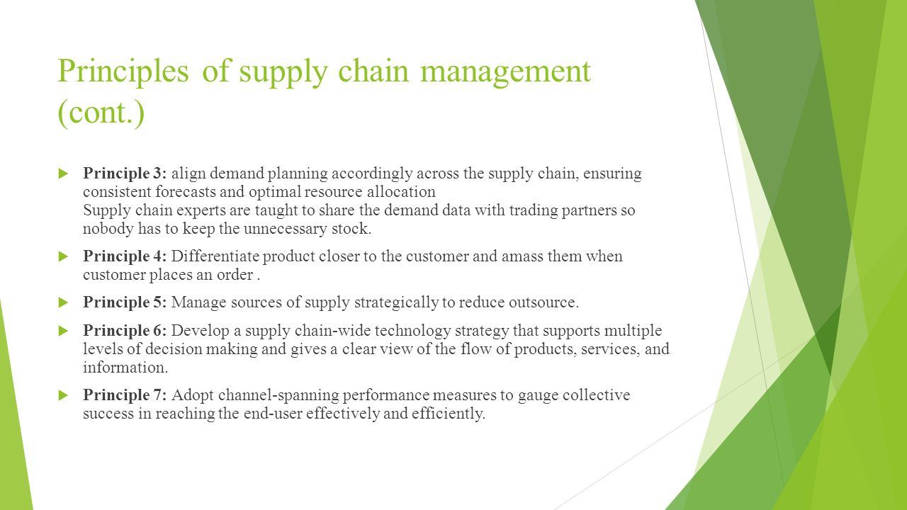 7 principle of supply chain management essay