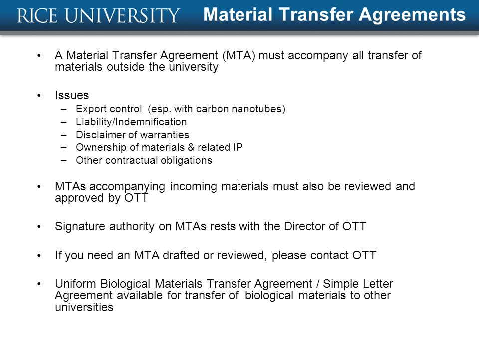 Technology Transfer At Rice  Ppt Download
