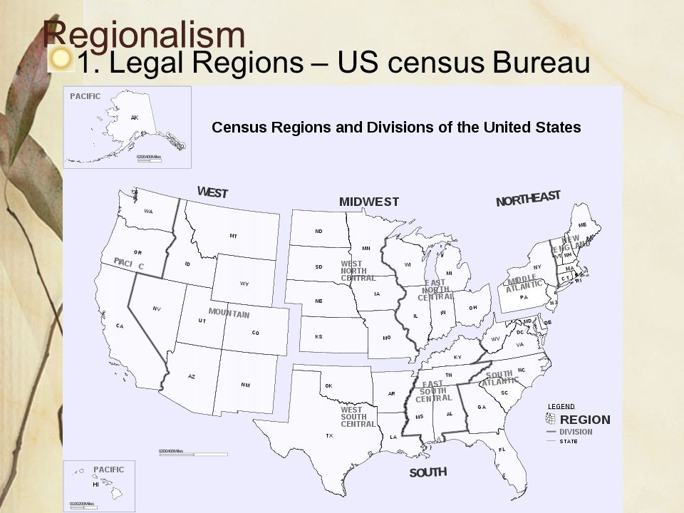 The United States And Canada Ppt Video Online Download - Us census regions and divisions map