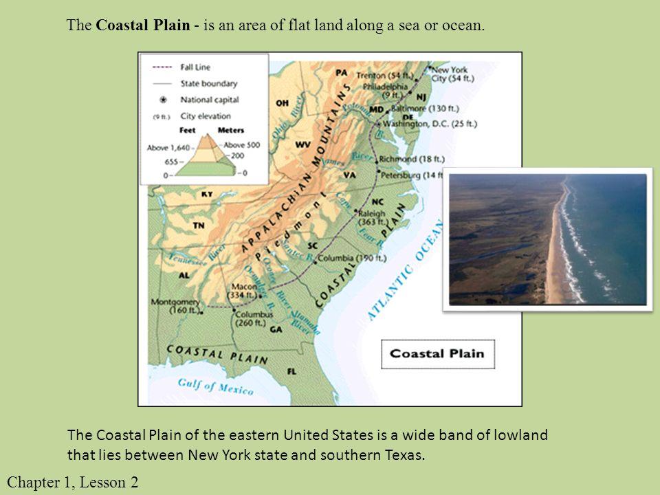 The Coastal Plain Is An Area Of Flat Land Along A Sea Or Ocean