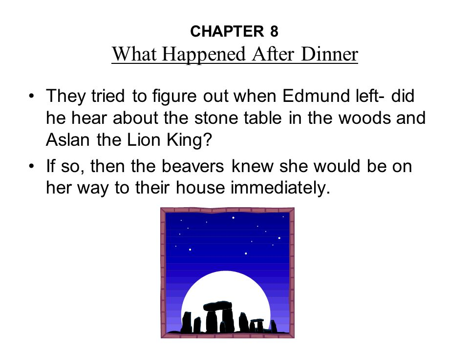 chapter summary of the lion the witch and the wardrobe White pages for each chapter can be economically copied as two double sided sheets,  this study guide to the lion, the witch, and the wardrobe was developed under.