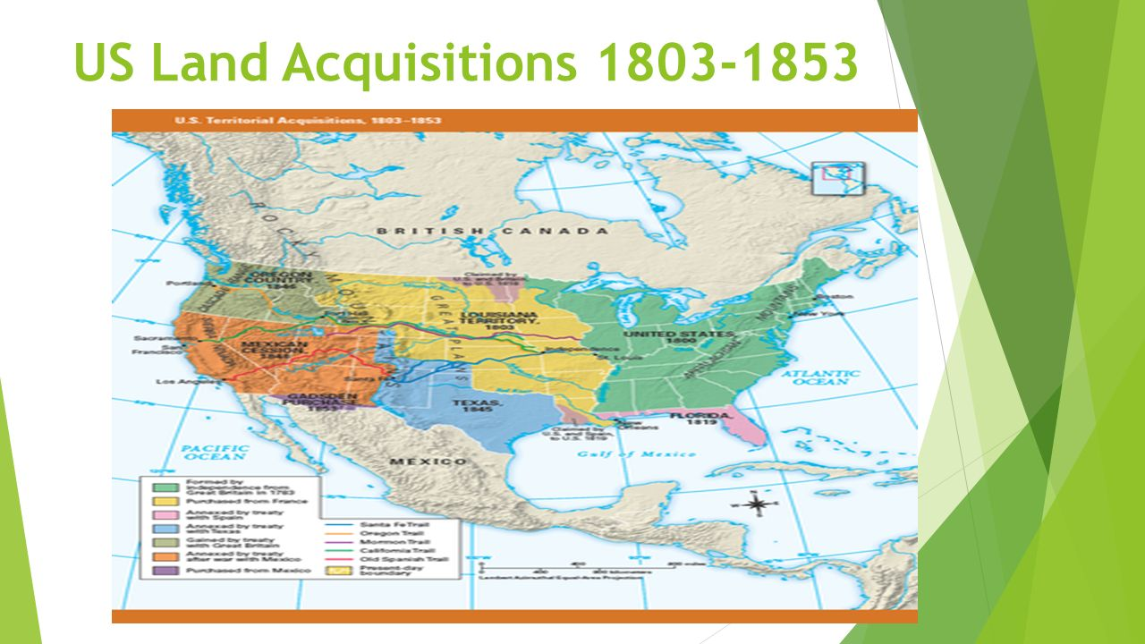 Chapter Manifest Destiny And The Growing Nation Ppt Download - Us territorial acquisitions