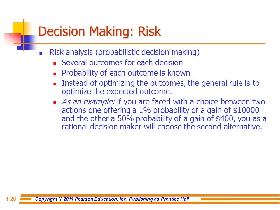 risk analysis on investment decision