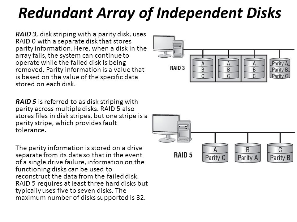 """an analysis of redundant arrays of inexpensive disks a computer storage system The original name was inexpensive disks, but then the drive manufacturers thought that didn't sound very good from a marketing point of view, so the more common modern term is """"redundant array ."""