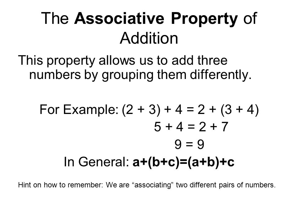 Grouping Property Of Multiplication