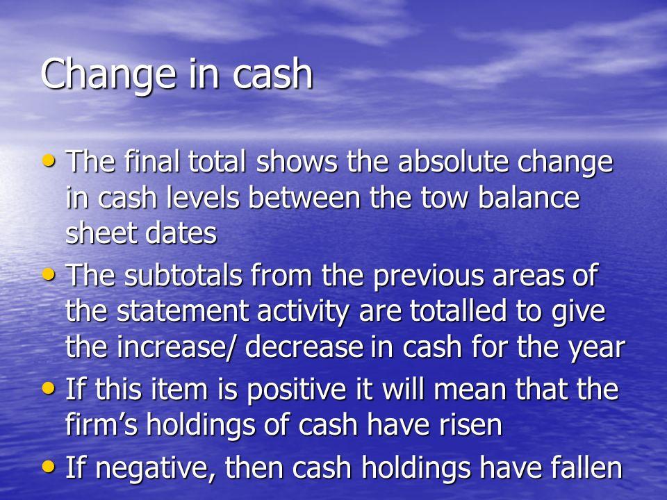 Cash Flow Statement. - ppt video online download