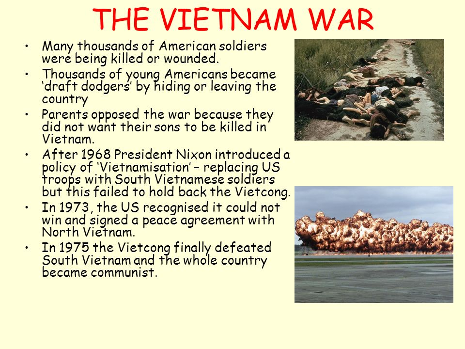 why did the us lose the vietnam war essay The vietnam war was fought in south vietnam between government forces aided by the united states and guerilla forces aided by the north vietnamese despite increased american military involvement and signed peace agreements in 1973, the vietnam war did not end until north vietnam's successful invasion of south vietnam in 1975.