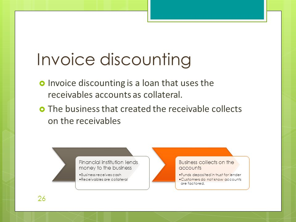factoring and invoice discounting pdf