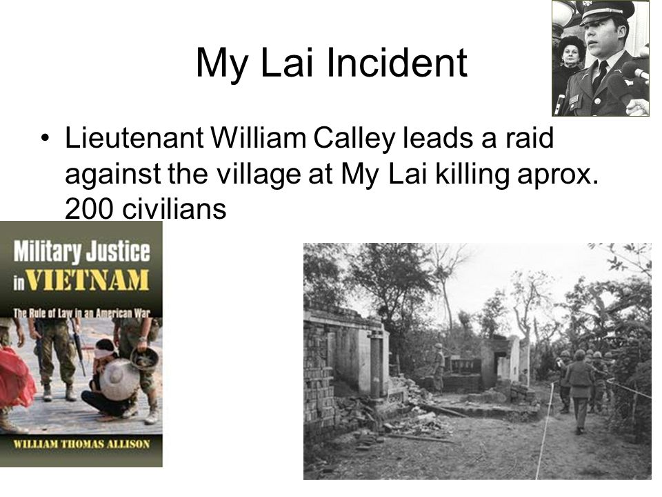 """lieutenant calley essay This piece i wrote provides a critical historical analysis of the 1968 my lai massacre  lieutenant william """"rusty"""" calley was  an excellent essay."""