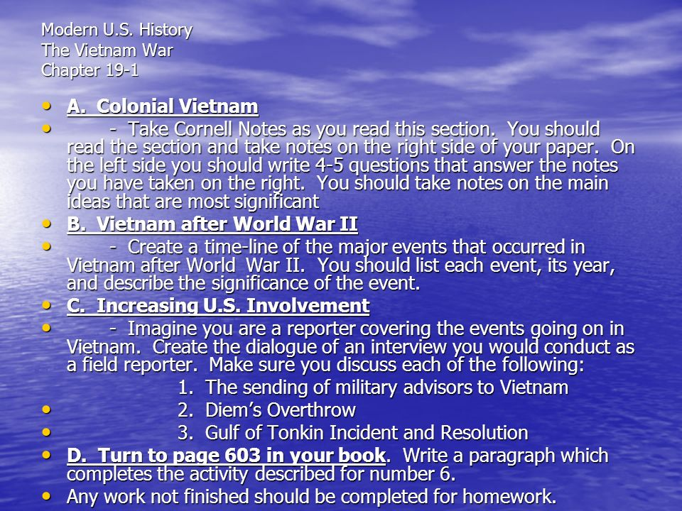 Sample Essay on Vietnam War